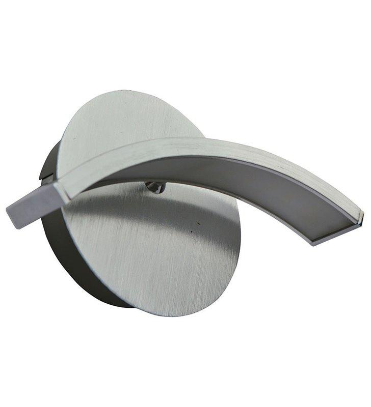 Kinkiet Kahina nowoczesny w kolorze aluminium do salonu sypialni przedpokoju
