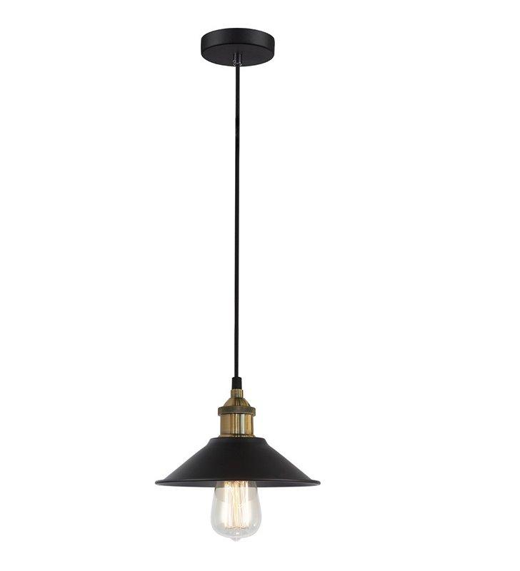 Lampa wisząca Kermio metalowa w stylu retro vintage do salonu kuchni jadalni nad stół lub wyspę kuchenną długi kabel