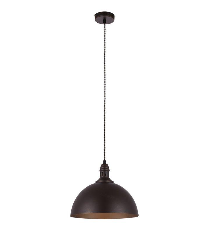 Lampa wisząca Luft brązowo złota metalowa w stylu vintage retro do salonu kuchni jadalni nad stół lub wyspę kuchenną