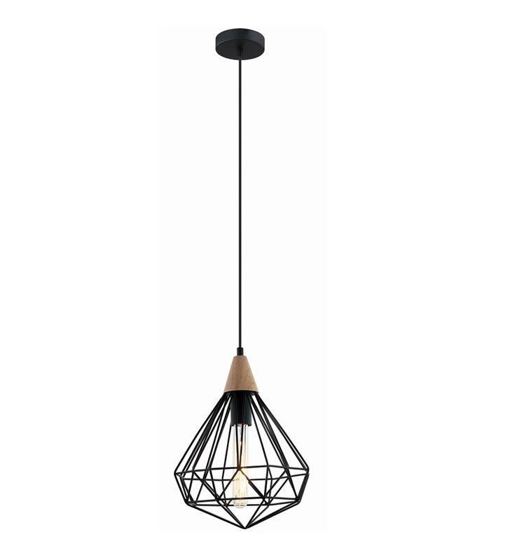 Maelle druciana czarna lampa wisząca w stylu vintage loftowym nad stół do salonu sypialni kuchni