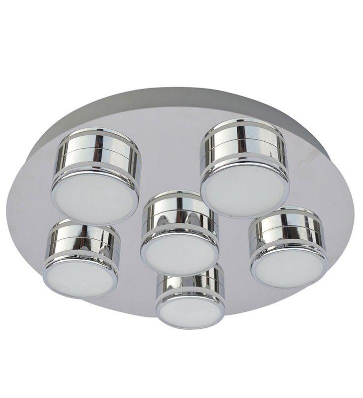 Plafon Marcel 350 LED chrom okrągły nowoczesny 6 punktowy do salonu sypialni przedpokoju