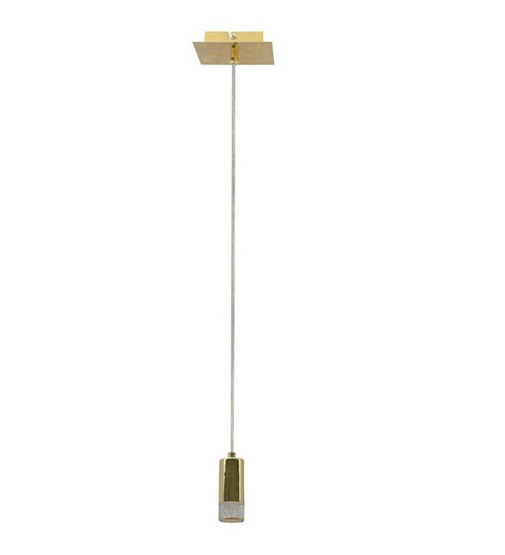 Mała lampa wisząca LED Mentin mosiądz
