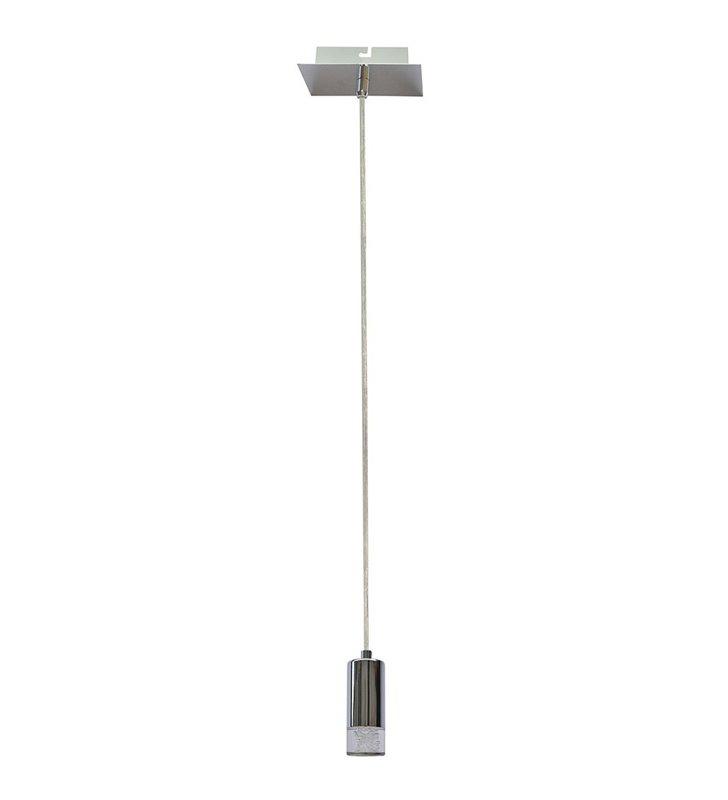 Mała lampa wisząca Mentin LED chrom