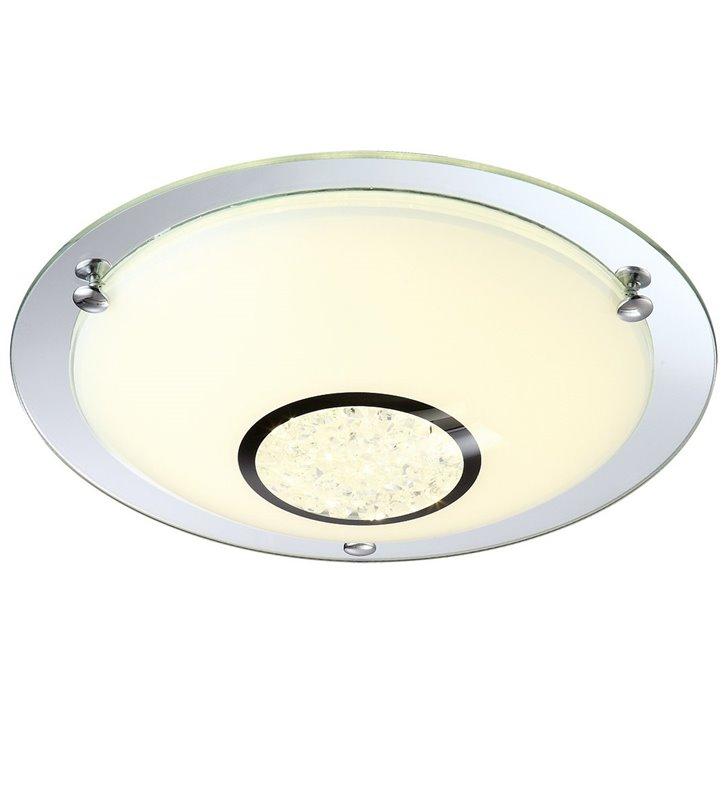 Plafon Minako 315 okrągły ozdobiony kryształkami do sypialni salonu przedpokoju