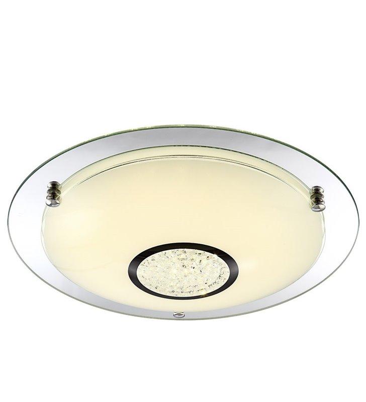 Plafon Minako 415 okrągły z kryształkami do sypialni salonu holu