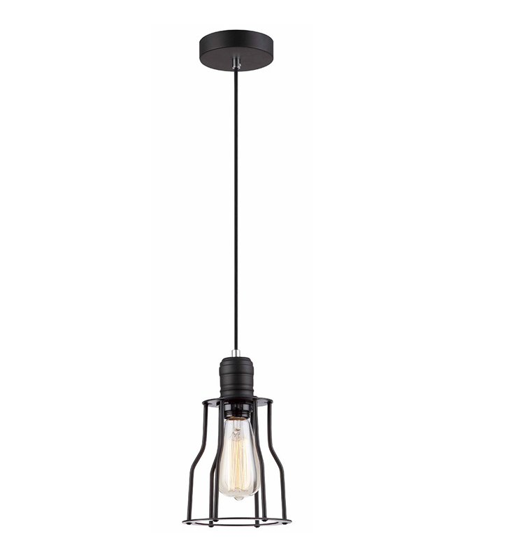 Moshi loftowa lampa wisząca w kolorze czarnym