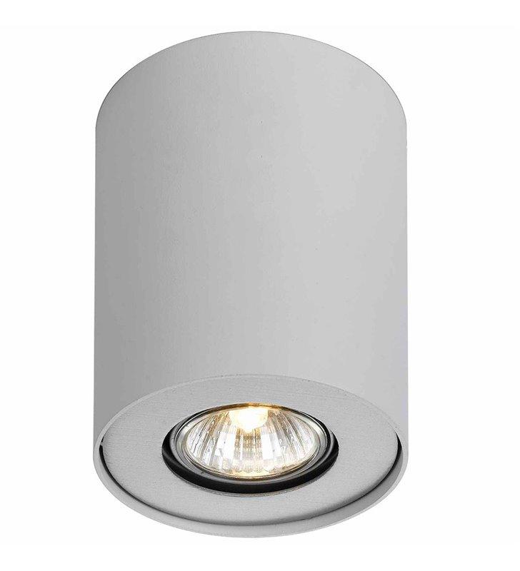 Lampa sufitowa downlight Shannon biała okrągła walec