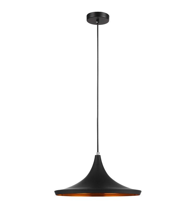 Lampa wisząca Pedro czarna z środkiem w kolorze mosiądzu nowoczesna do salonu sypialni kuchni jadalni nad stół