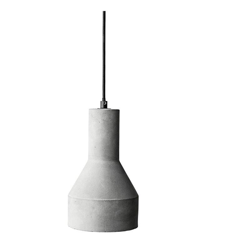 Lampa wisząca Karina nowoczesna w stylu loftowym wykonana z betonu architektonicznego