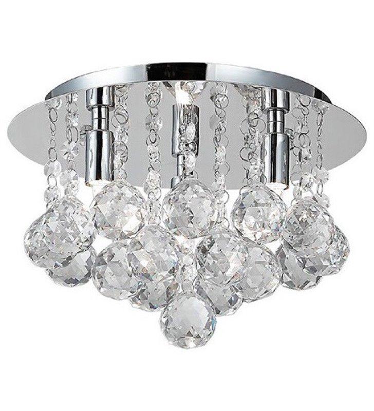 Okrągły plafon kryształowy Bolla 27cm mały kulki kryształowe