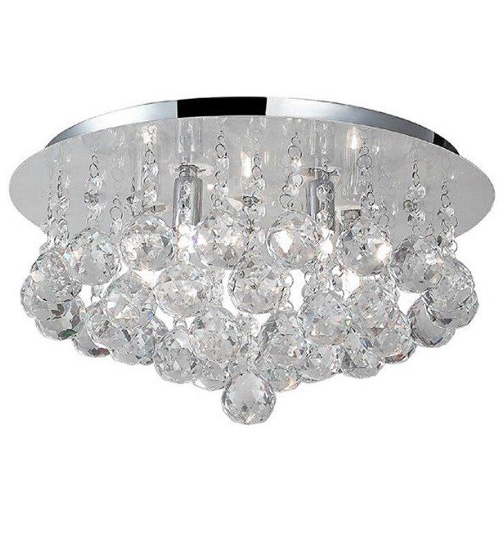 38cm plafon z kryształami Bolla okrągły okrągłe kryształowe kulki  - DOSTĘPNY OD RĘKI