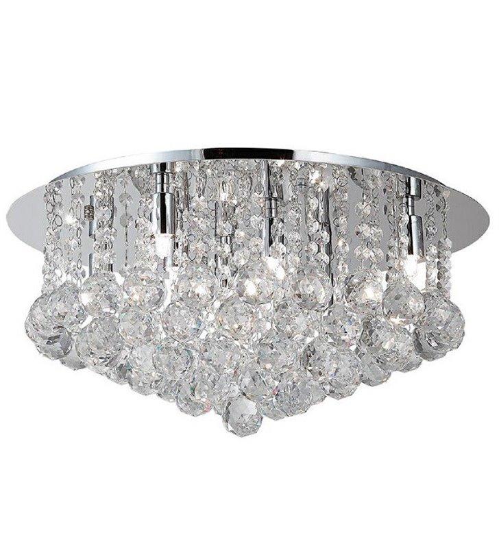 Plafon Bolla 58cm duży okrągły kryształowy do salonu sypialni przedpokoju