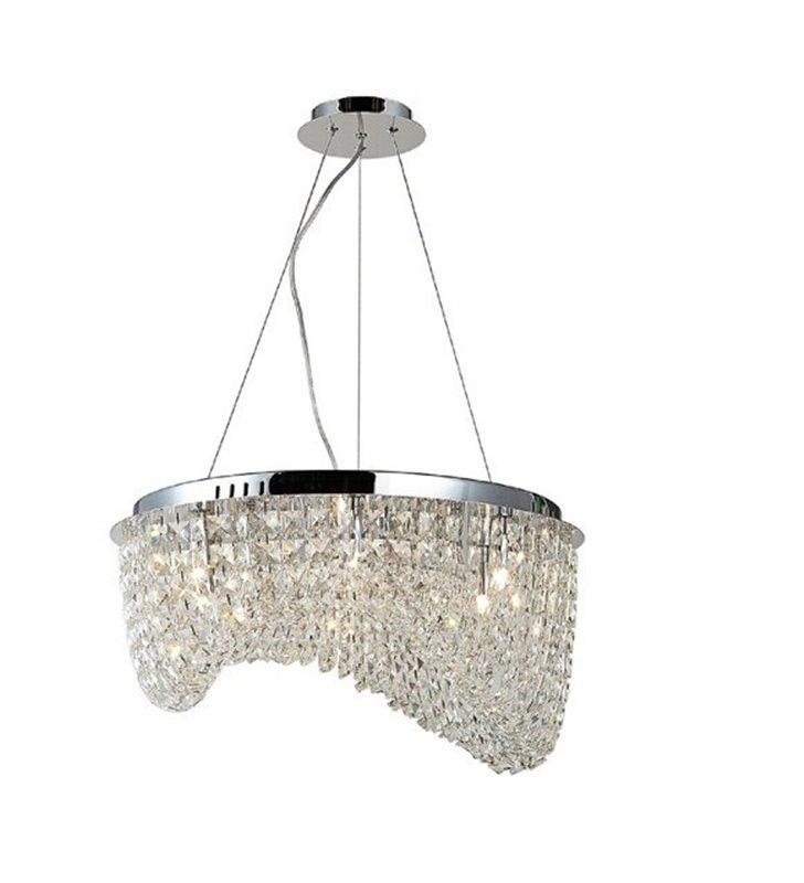 Kryształowa lampa wisząca Carmen z chromowanym wykończeniem do salonu sypialni nad stół do jadalni kuchni