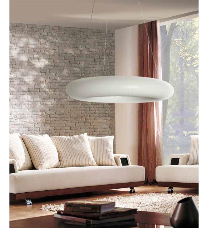 Lampa wisząca Napoli 600 nowoczesna okrągła biała do salonu kuchni jadalni nad stół do sypialni