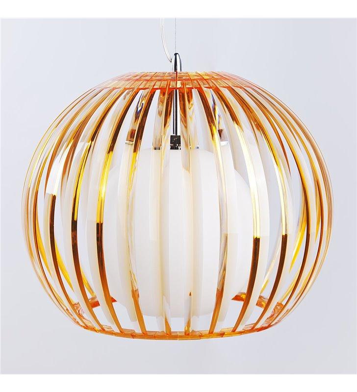 Pomarańczowa lampa wisząca Arcada Orange nowoczesna do sypialni kuchni jadalni salonu