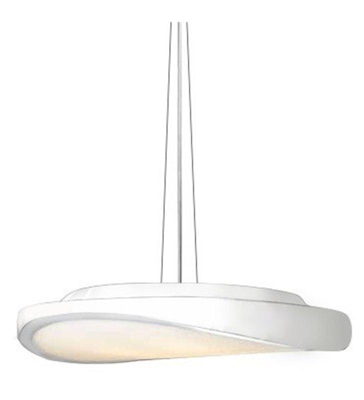 Circulo biała lampa wisząca o nieregularnym kształcie do sypialni kuchni salonu jadalni - OD RĘKI