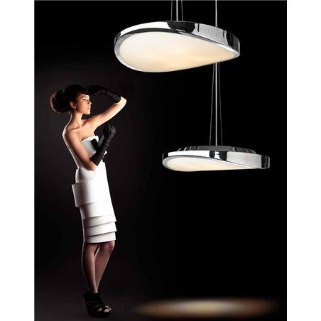 Lampa wisząca Circulo w kolorze chrom o nowoczesnym