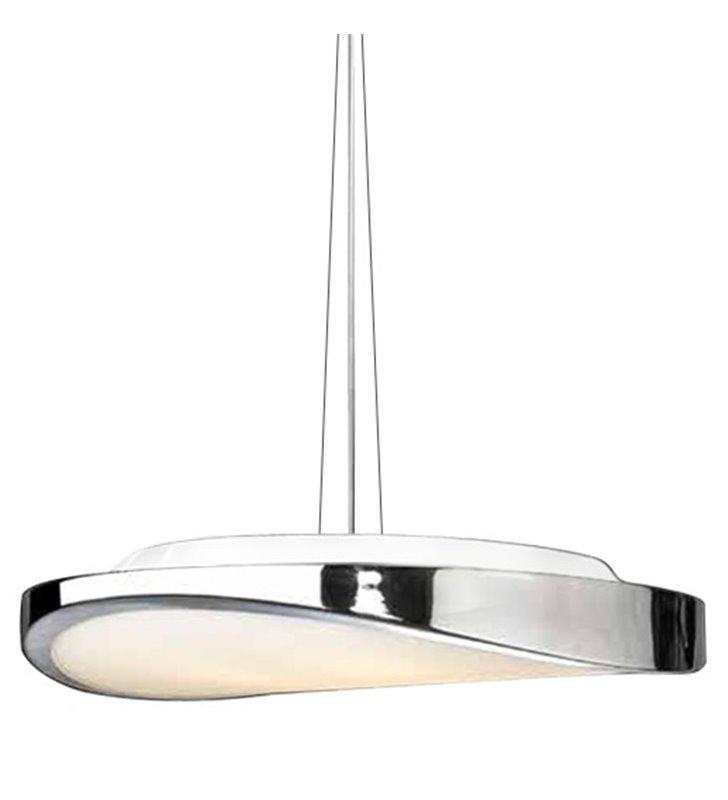 Chromowana lampa wisząca Circulo do wnętrza w stylu nowoczesnym do sypialni jadalni kuchni salonu