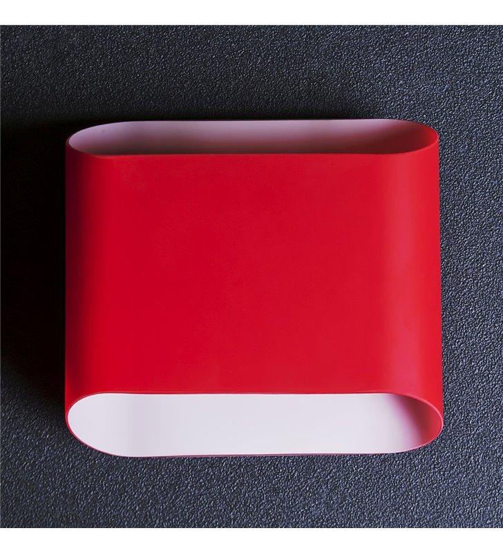 Kinkiet Pancake czerwony o prostym uniwersalnym kształcie do salonu sypialni korytarza przedpokoju