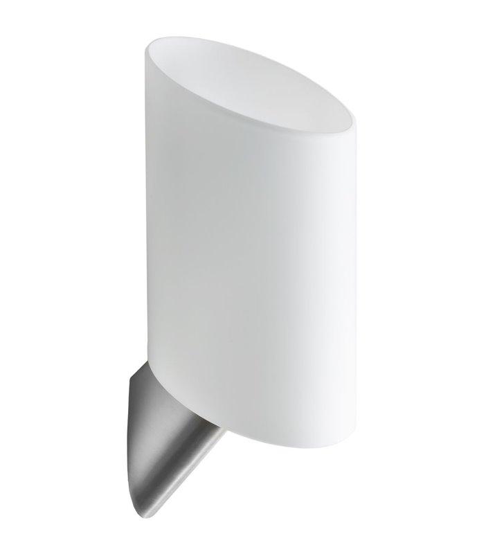 Kinkiet Rosa nowoczesny klosz szklany biały do salonu sypialni na korytarz przedpokój hol