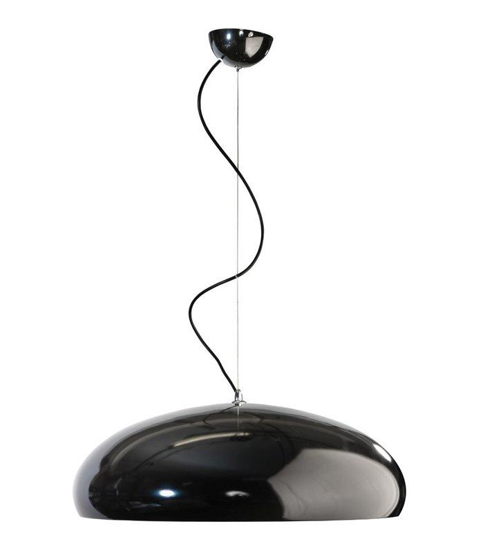 Ragazza metalowa czarna okrągła nowoczesna lampa wisząca