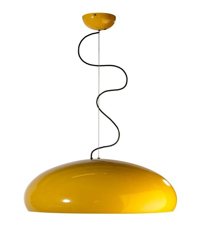 Ragazza żółta metalowa okrągła nowoczesna lampa wisząca do salonu sypialni kuchni jadalni nad stół