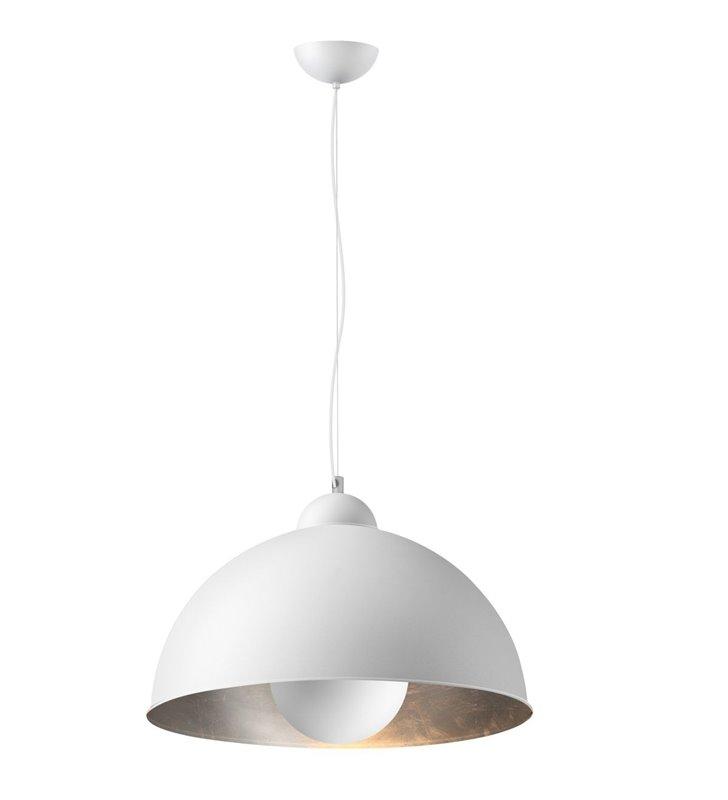 Metalowa Biała Lampa Wisząca Ze Srebrnym środkiem Toma W Stylu Industrialnym Loftowym Do Kuchni Jadalni Salonu Sypialni