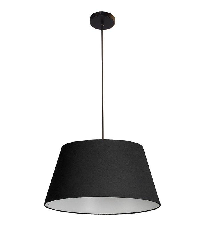 Lampa wisząca Olav czarna abażur trapez średnica 50cm do salonu jadalni kuchni sypialni