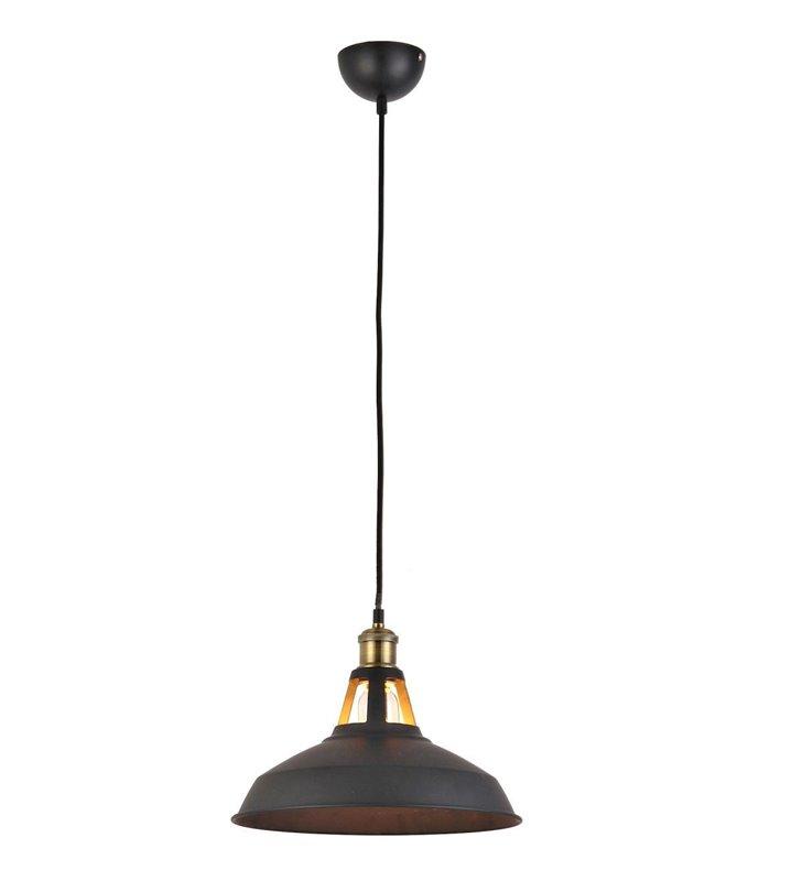 Lampa wisząca New Axel czarna metalowa w stylu loftowym industrialnym vintage