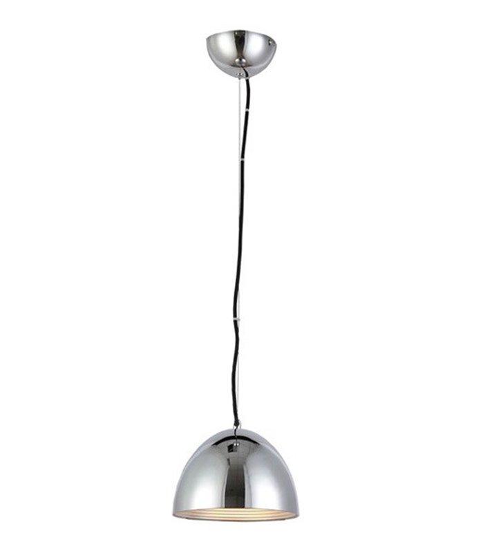Lampa wisząca Modena mała chromowana klosz kopuła nowoczesna