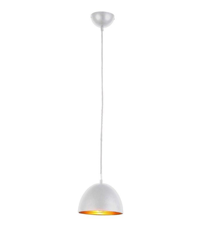 Nowoczesna biała lampa wisząca ze złotym środkiem Modena