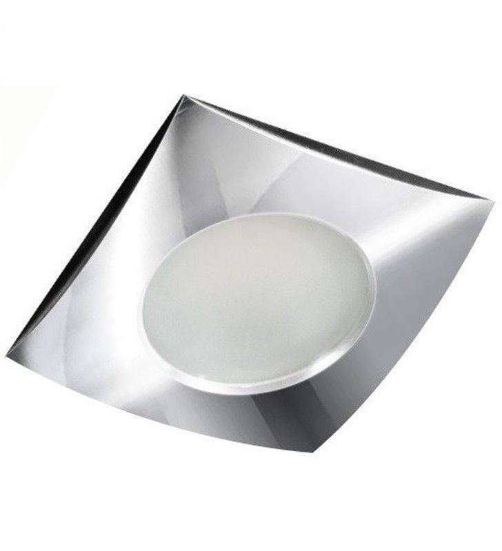 Kwadratowa chromowana oprawa punktowa do łazienki Ezio IP54 - DOSTĘPNA OD RĘKI