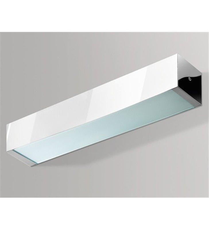 Chromowany nowoczesny kinkiet Archo 2C pionowy strumień światła
