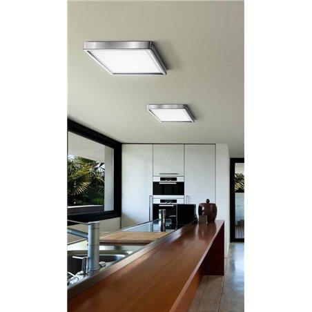 Tappo 310 LED nowoczesny kwadratowy plafon do salonu holu sypialni przedpokoju kolor chrom