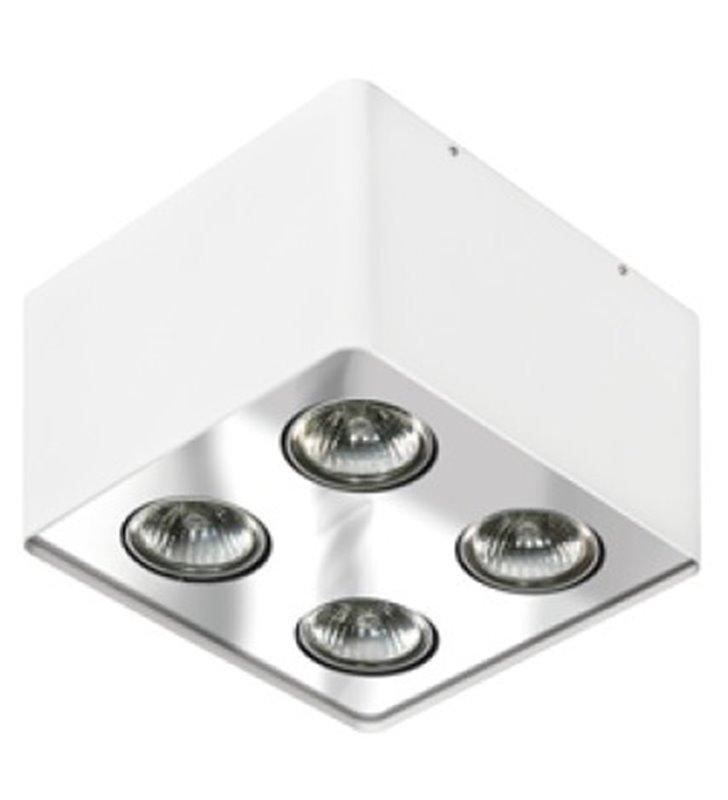 Lampa sufitowa Nino 4 punktowa biała z chromowanym wykończeniem
