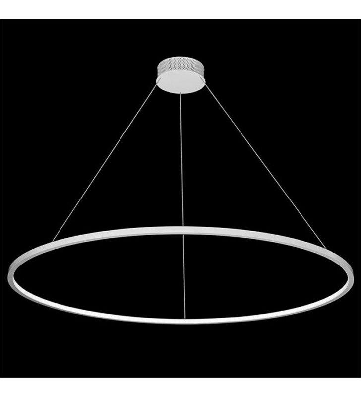 Duża biała nowoczesna obręcz LEDowa Echo 1200 (K) diody LED wewnątrz klosza