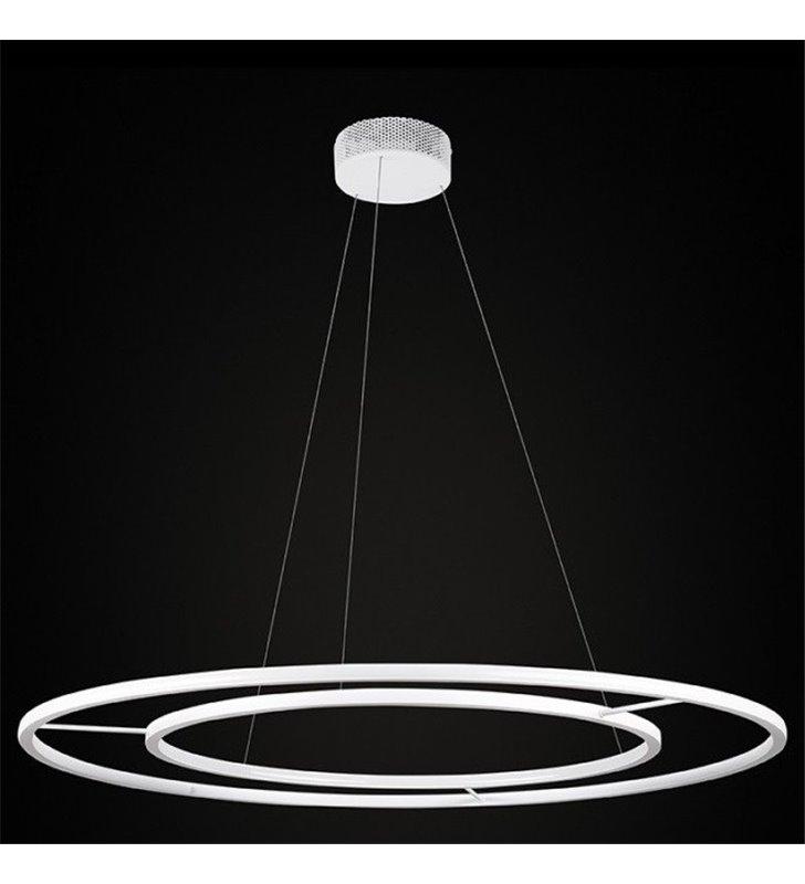 Lampa wisząca Echo (K) duża biała dwie LEDowe obręcze