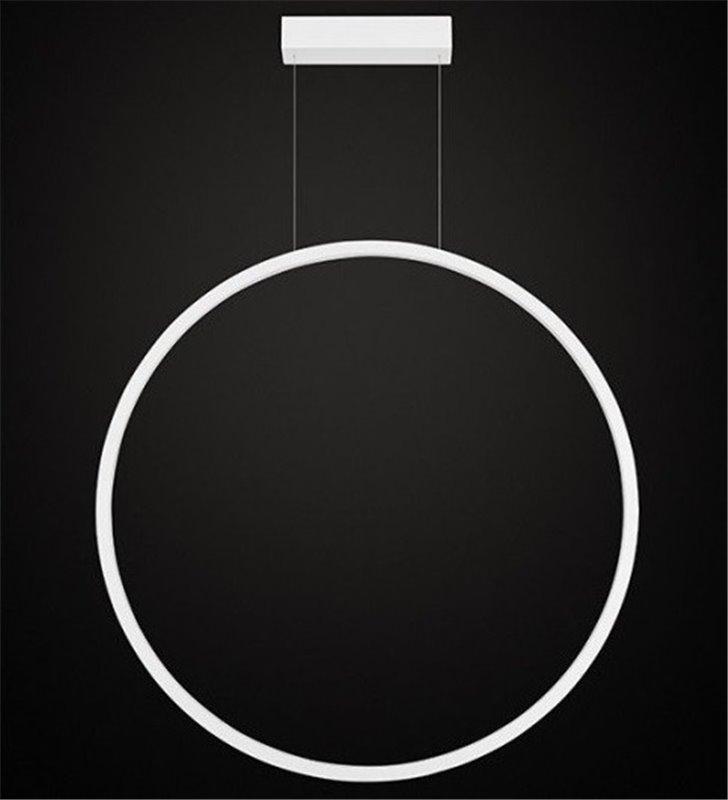 Lampa wisząca Echo (K) biała obręcz