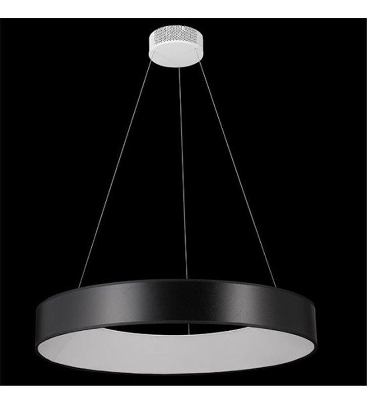 Lampa wisząca Fog (K) LED klosz okrągły czarny do salonu sypialni jadalni kuchni nad stół
