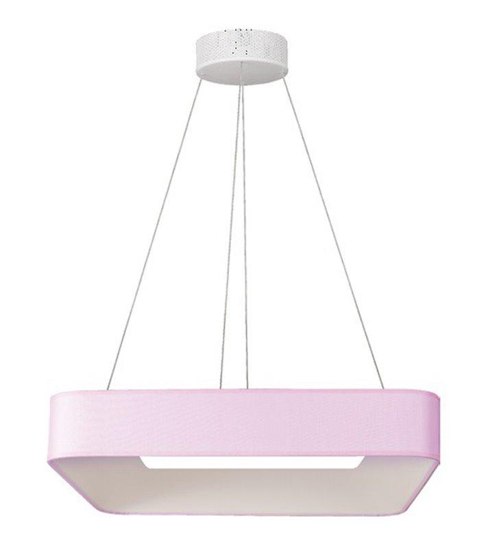 Duża jasnoróżowa lampa wisząca LED Bonbon (K) do salonu sypialni kuchni jadalni nad stół