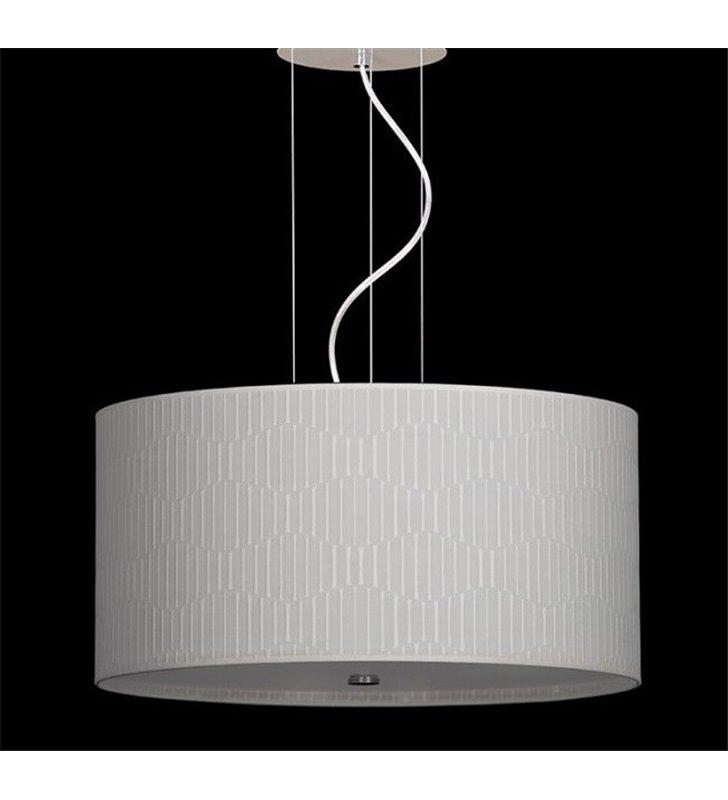 Lampa wisząca Onde 800 (K) duży kremowy abażur do jadalni nad stół salonu sypialni kuchni na 6 żarówek