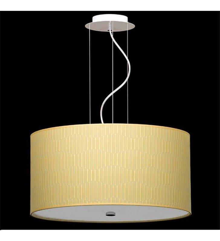 Lampa wisząca Onde 500 (K) abażur cytrynowy do sypialni salonu jadalni kuchni
