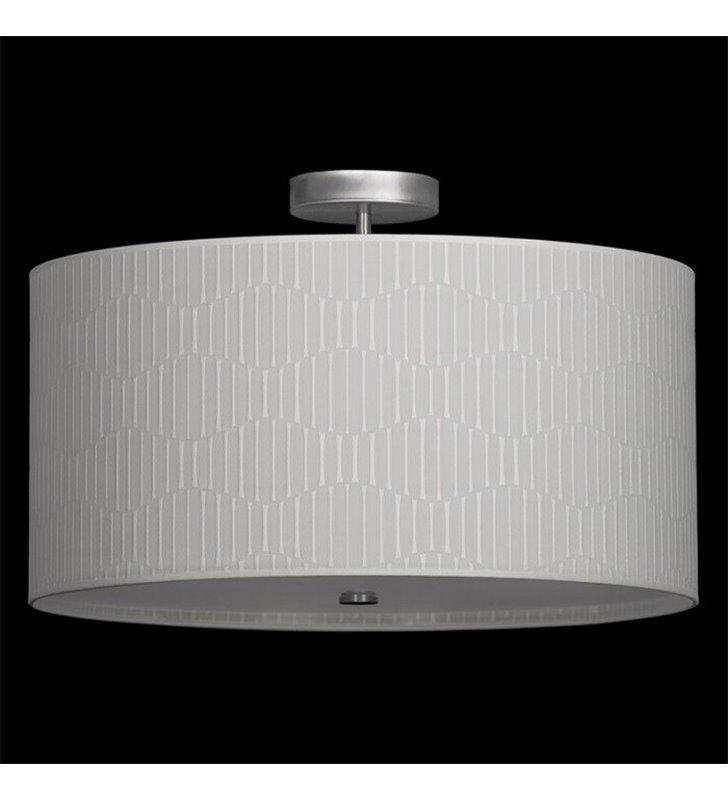 Onde 800 (K) duża lampa sufitowa plafon z kremowym materiałowym abażurem