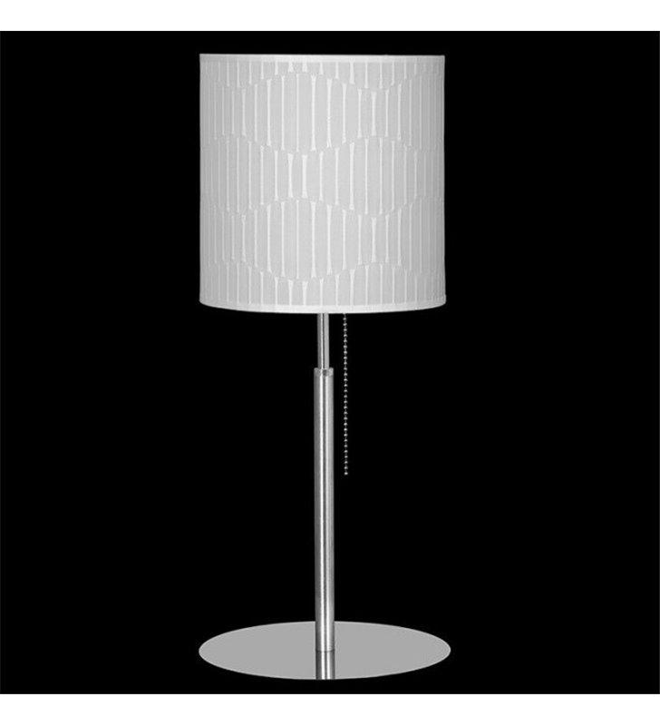 Lampa stołowa Onde (K) kremowy abażur do salonu sypialni z włącznikiem sznureczkowym
