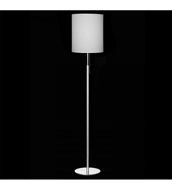 Lampa podłogowa Onde (K) abażur materiałowy kremowy włącznik sznureczkowy