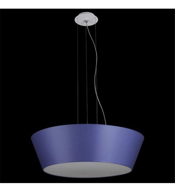 Niebieska lampa wisząca Bari (K) średnica metr nowoczesna abażur