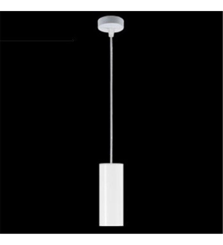 Lampa wisząca Piano biała walec