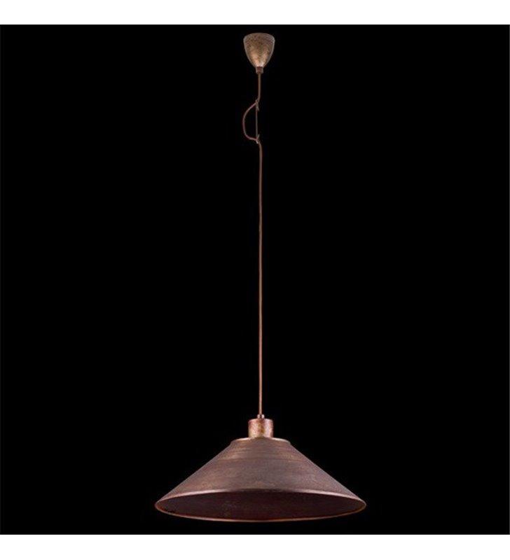 Lampa wisząca Oxido stożek stal rdzewiona styl industrialny vintage loftowy