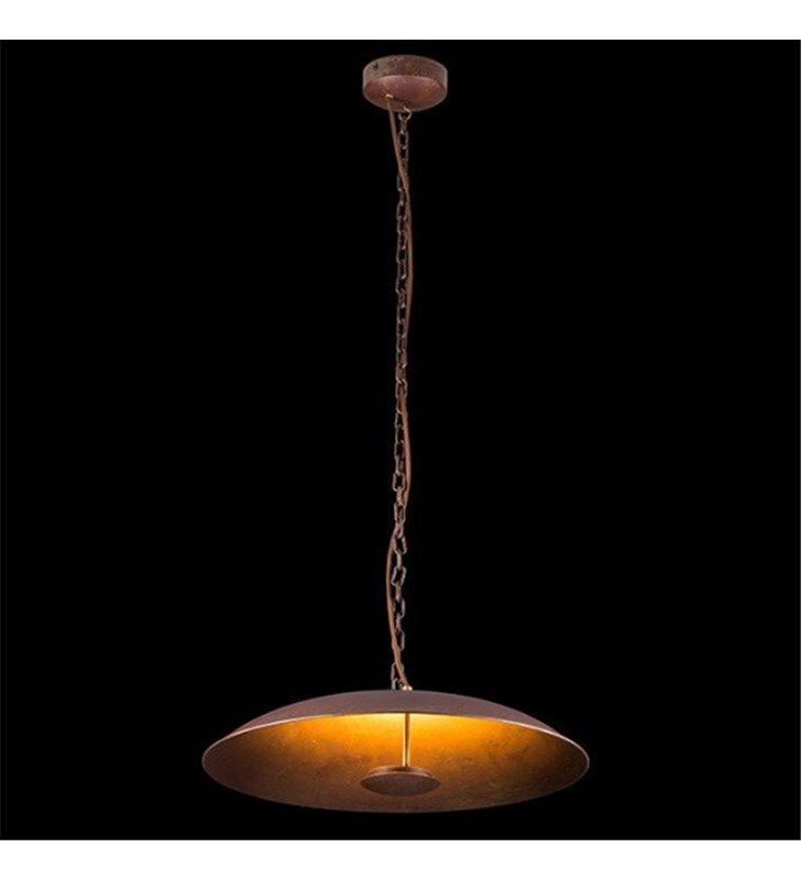Lampa wisząca Oxido LED klosz misa stal rdzewiona styl vintage loftowy industrialny