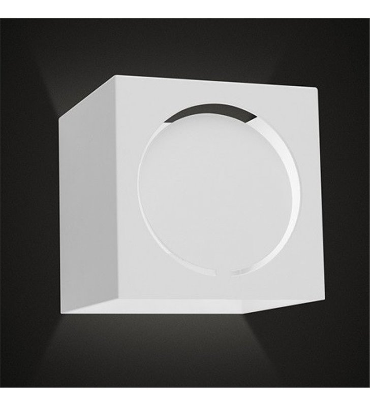 Mały biały kwadratowy kinkiet Rodi